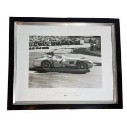 Elegancki obraz z samochodem British Grand Prix 1956