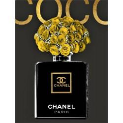 Luksusowy obraz złoty glamour na szkle