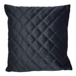 Welurowa czarna poduszka Glamour