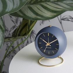 Elegancki zegar stojący z budzikiem na stolik nocny