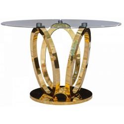 Luksusowy złoty stół art deco