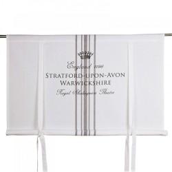 Biała bawełniana roleta angielska 120x120
