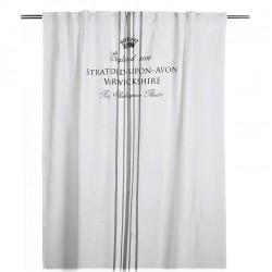 Biała bawełniana zasłona angielska 120x250