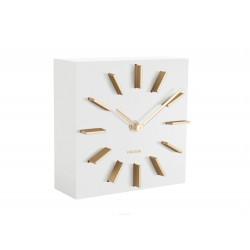 Luksusowy zegar stojący biały nowoczesny