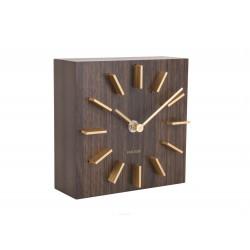 Elegancki nowoczesny zegar stojący drewniany