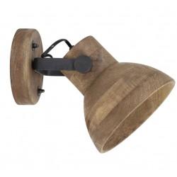 Nowoczesny ruchomy kinkiet drewniany