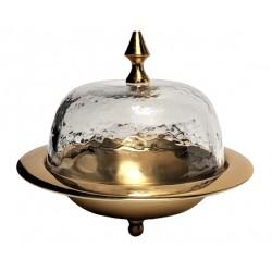Złota maselniczka glamour -Art Deco
