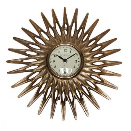 Zegar słońce złoty na ścianę Art Deco