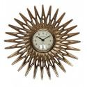 Zegar słońce złoty na ścianę Art Deco 33cm