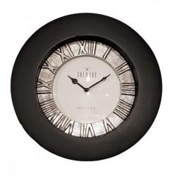 Luksusowy zegar drewniany czarny
