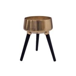 Kwietnik metalowy złoty na nóżkach