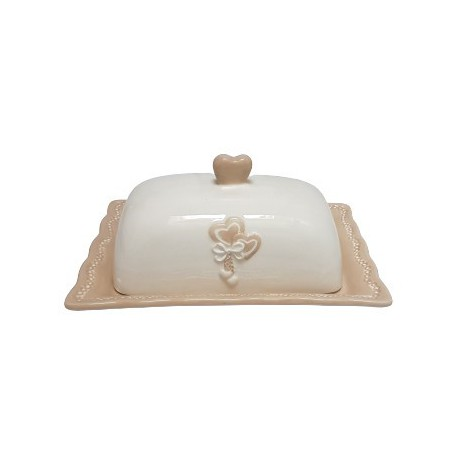 Elegancka ceramiczna maselniczka