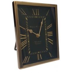 Złoty zegarek na szfkę nocną w klimacie Art Deco