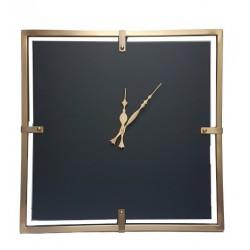 Elegancki nowoczesny zegar ścienny złoty