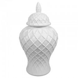 Luksusowa biała amfora ceramiczna-waza dekoracyjna