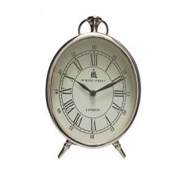 Zegar srebrny glamour stołowy