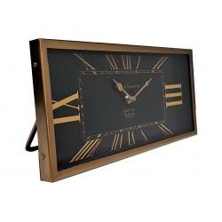 Luksusowy metalowy złoty zegar stojący 36x16