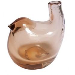 Dmuchane szkło-wazon szklany na kwiaty figurka ptak Boho