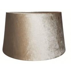 Welurowy abażur złoty-beżowy do lampy stołowej-podłogowej