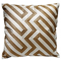 Luksusowa poduszka geometryczne wzory złota