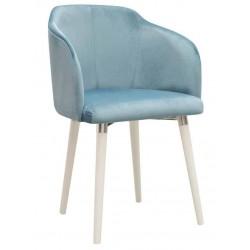 Fotel na drewnianych nogach miętowy