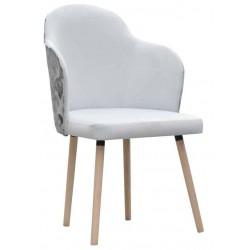 Fotel na drewnianych nogach biały