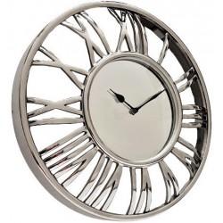 Luksusowy srebrny zegar ścienny Glamour