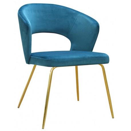 Krzesło tapicerowane turkusowe