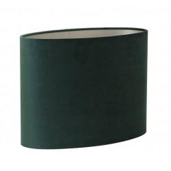 Luksusowy welurowy zielony abażur owalny