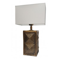 Luksusowa lampa stołowa złota Boho