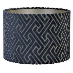 Luksusowy welurowy abażur cylindryczny Art Deco