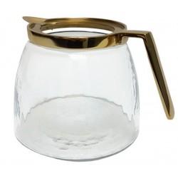 Złoty dzbanek na wodę do soku szklany- mosiądz polerowany