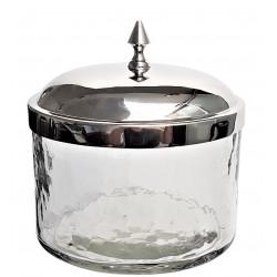 Elegancki szklany pojemnik glamour 17x13x17
