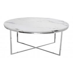 Nowoczesny marmurowy stolik kawowy okrągły 90x42