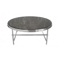 Okrągły stolik kawowy z marmurowym blatem