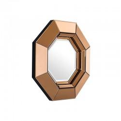 Geometryczne lustro w złotej ramie 68/68