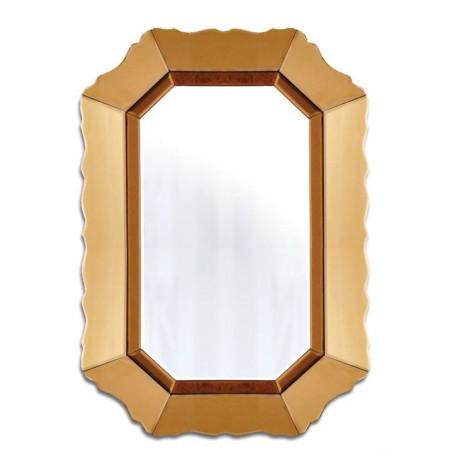Nowoczesne lustro w złotej ramie