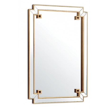 Prostokątne lustro z ramą lustrzaną