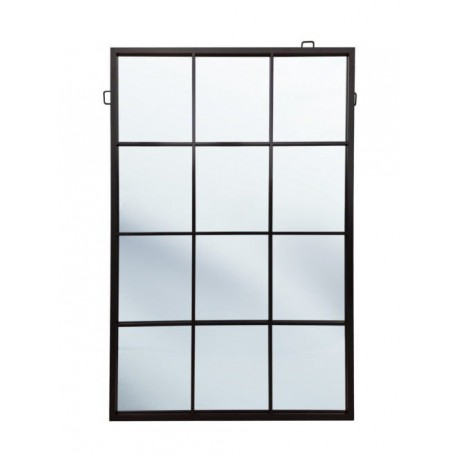 Wysokie lustro industrialne czarne