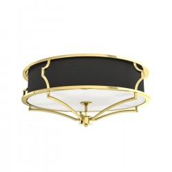 Czarno złoty plafon w stylu hampton - plafon sufitowy do salonu