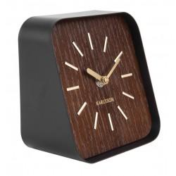 Elegancki nowoczesny zegar stojący drewniany czarny