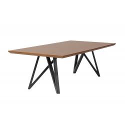 Stolik kawowy drewniany prostokątny - Stolik kawowy z metalowymi nogami