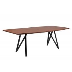 Drewniany stół do salonu - Stół drewniany z metalowymi nogami