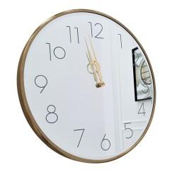 Duży zegar lustrzany na ścianę Modern Glamour