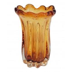 Luksusowy wazon grube szkło dmuchane - szklana dekoracja