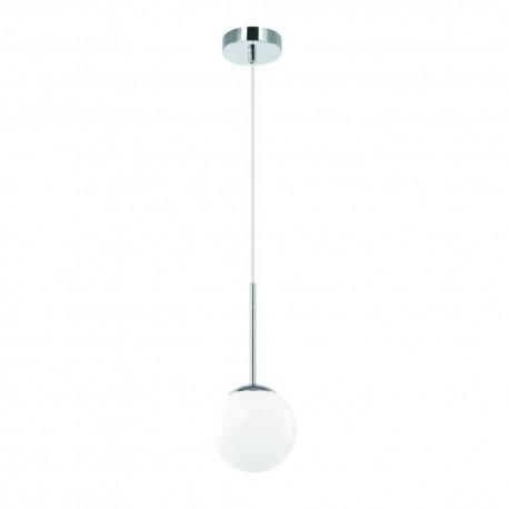 Nowoczesna lampa wisząca ip44 biała kula szklana