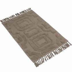 Elegancki bawełniany chodnik do sypialni z frędzlami