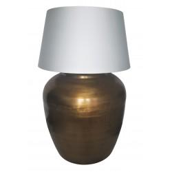 Duża złota lampa stołowa