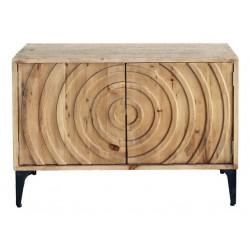 Drewniana komoda dwudrzwiowa loftowa
