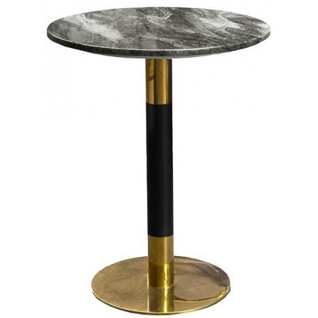 Nowoczesny stół do jadalni z marmurowym blatem kolor czarno biały
